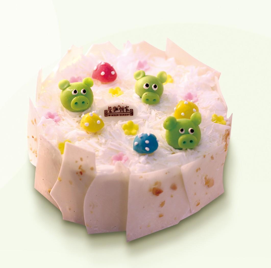 荣诚蛋糕-淘气猪- 可爱 小朋友 生日